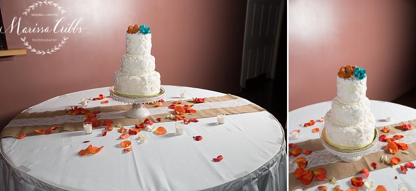 Wedding Cake | KC Wedding Photographer | Marissa Cribbs Photography | Californos