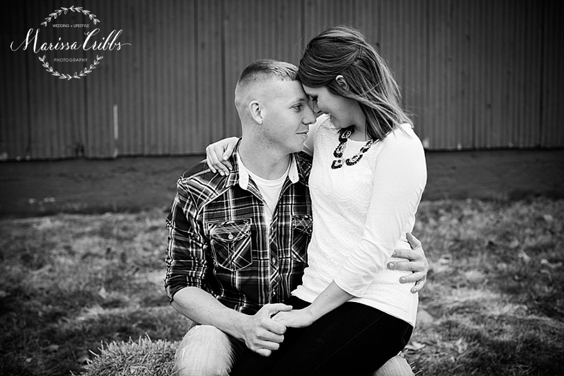 Red Barn Engagement Pictures | Kansas City Engagement Session | Marissa Cribbs Photography