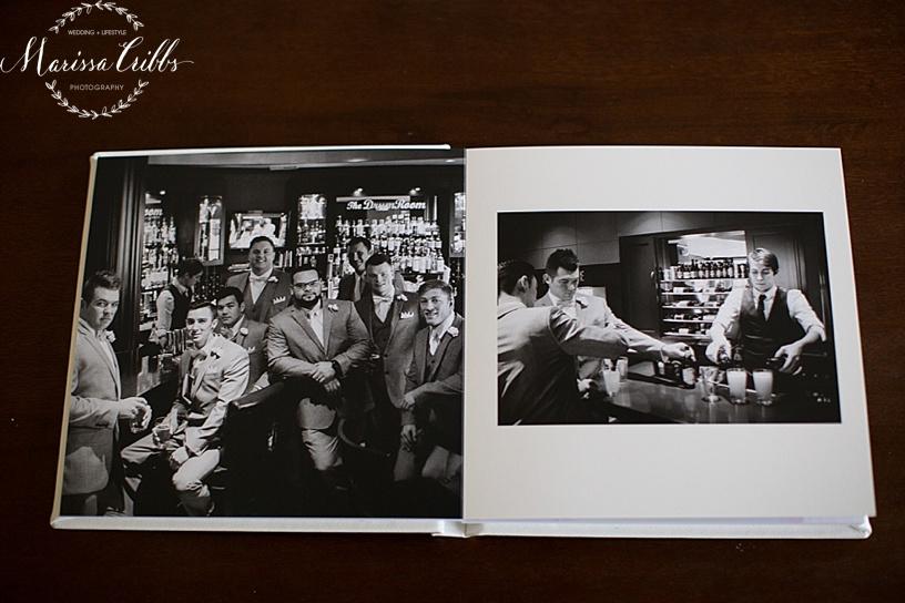 Leather Signature Wedding Album | Marissa Cribbs Photography | KC Wedding Photographer