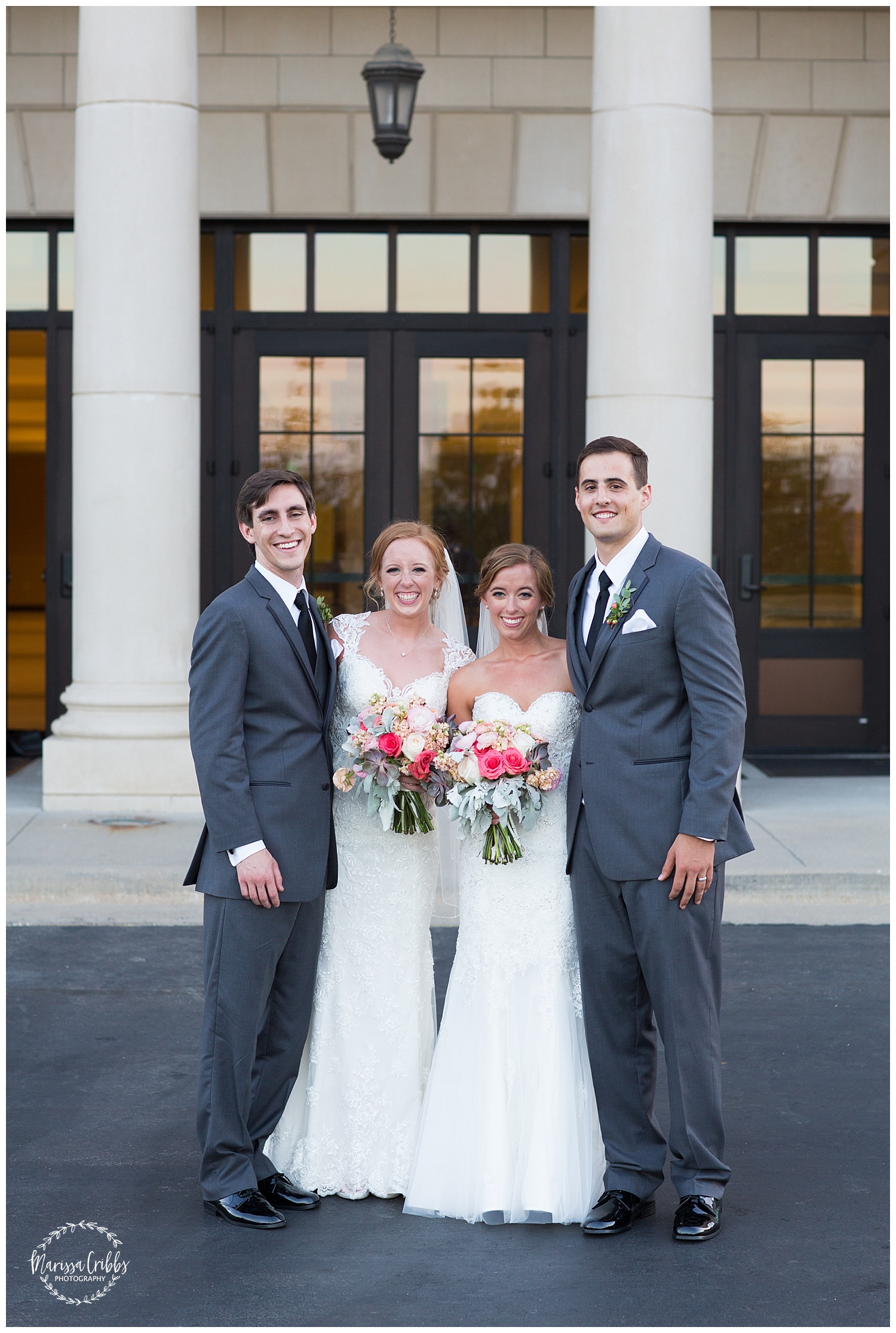 Twin Double Wedding | Union Horse Distilling Co. | Marissa Cribbs Photography | KC Weddings_0165.jpg