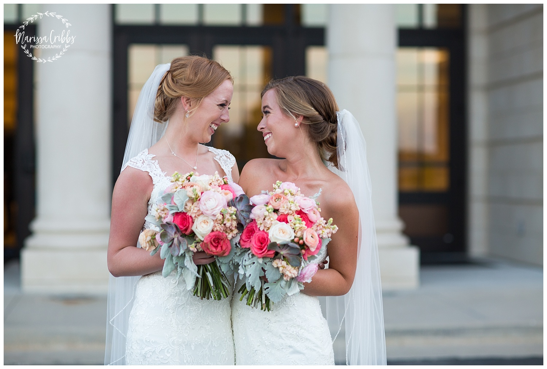 Twin Double Wedding | Union Horse Distilling Co. | Marissa Cribbs Photography | KC Weddings_0167.jpg