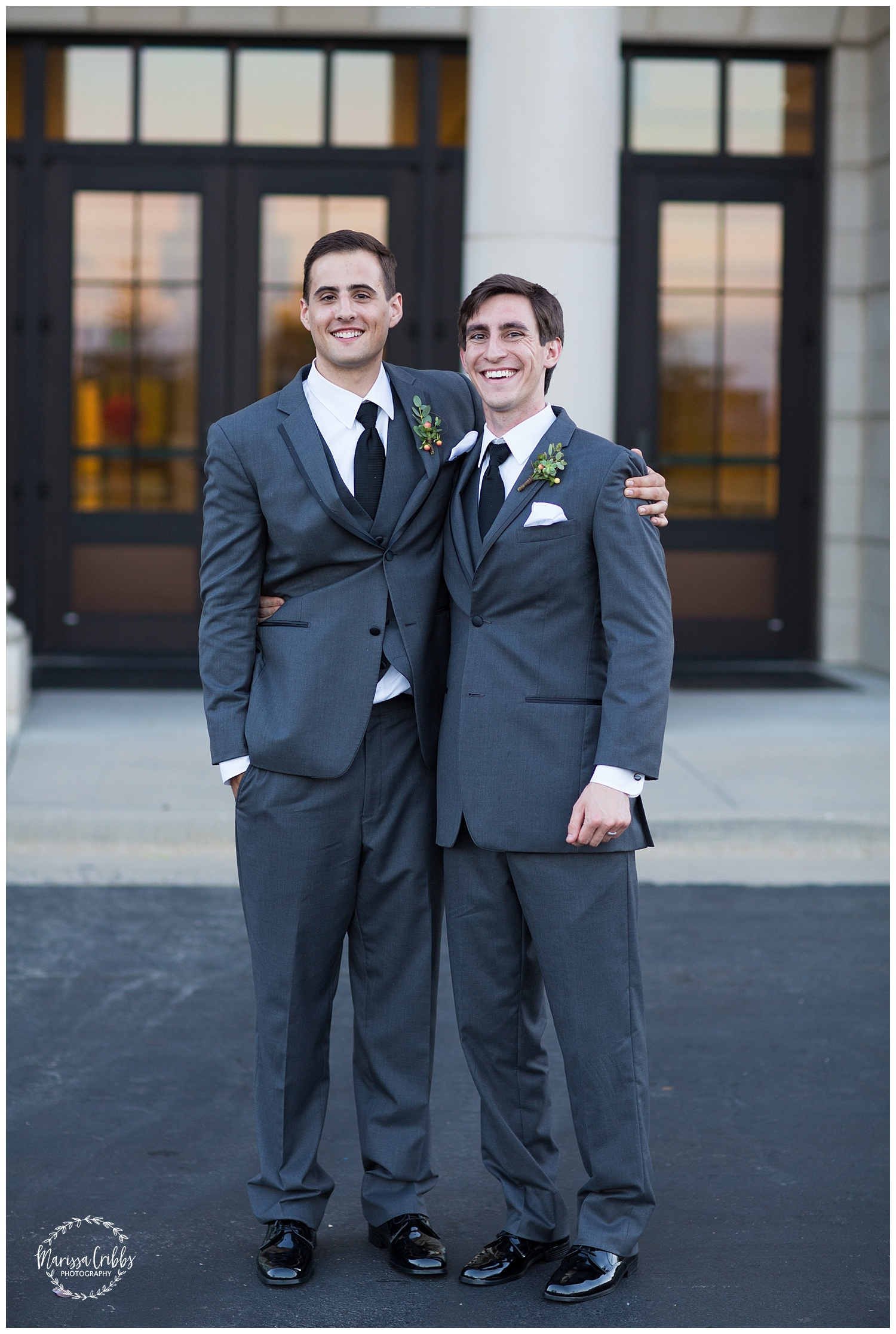 Twin Double Wedding | Union Horse Distilling Co. | Marissa Cribbs Photography | KC Weddings_0170.jpg