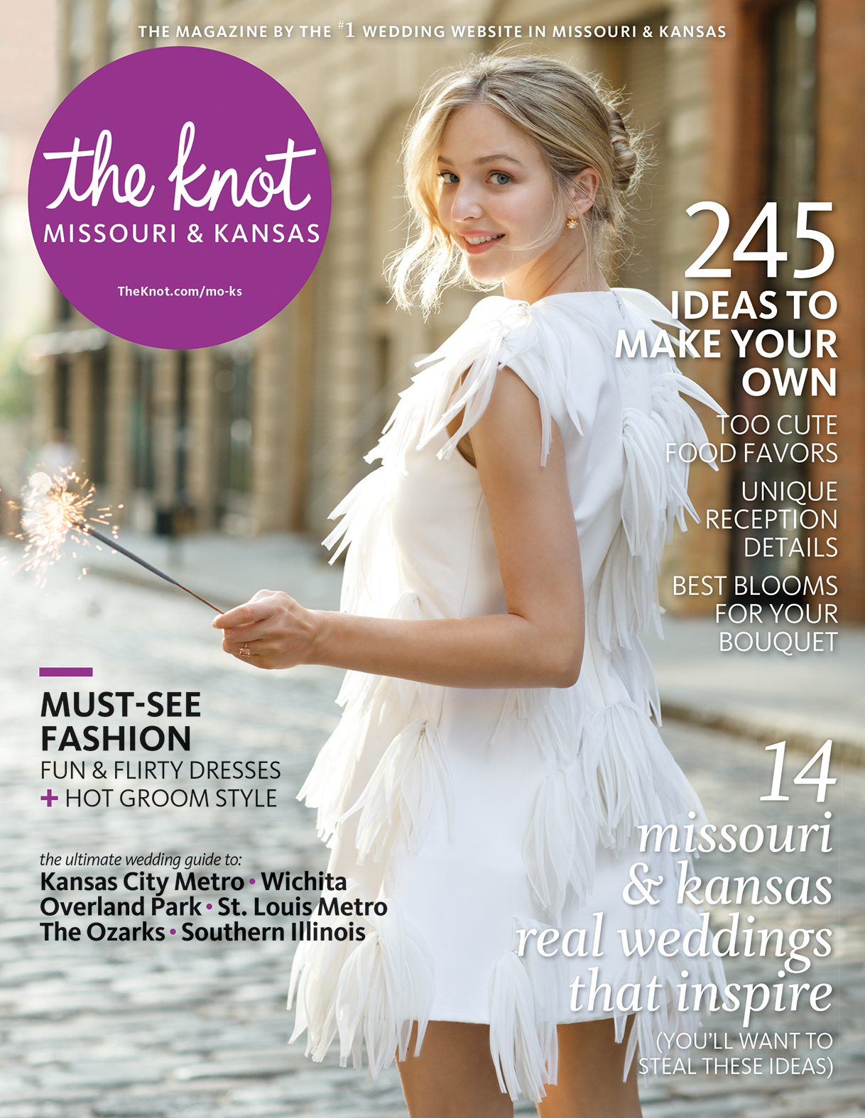 The Knot Magazine | Molly & Eric, Emily & Mark Real Wedding Feature