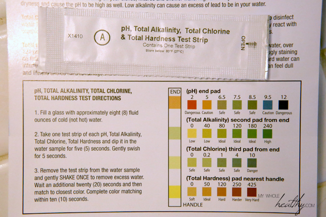 The results chart and unopened test strip.