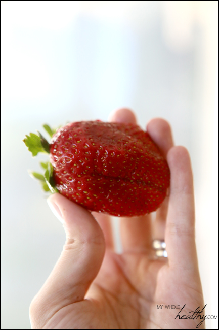 An organic strawberry