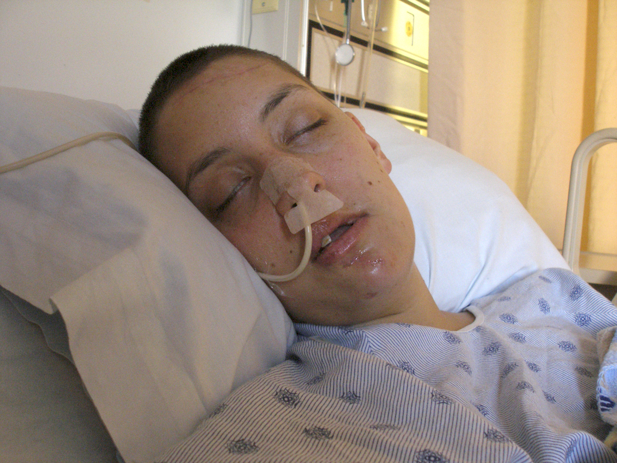 In the hospital with a feeding tube, 2007.