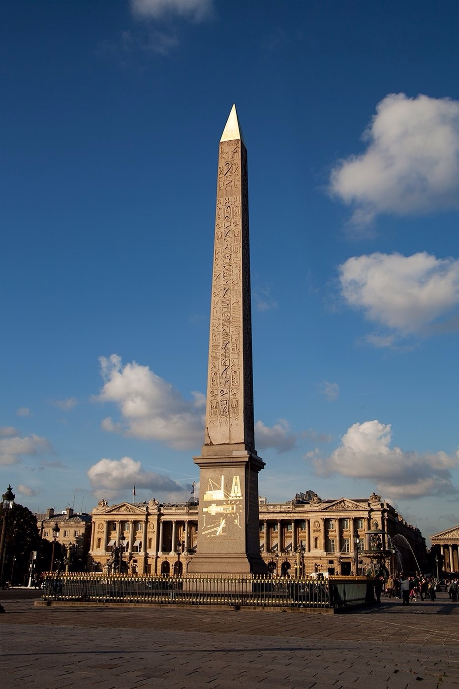 Place de La Concorde in Paris France.  The obelisk structure that symbolizes one of the suns rays.  (Photo found on Pinterest)