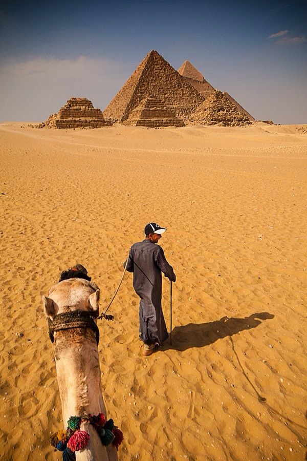 Writer Carl Hoffman took a trip to the Giza Pyramids. This is how he viewed the pyramids on his camel ride.