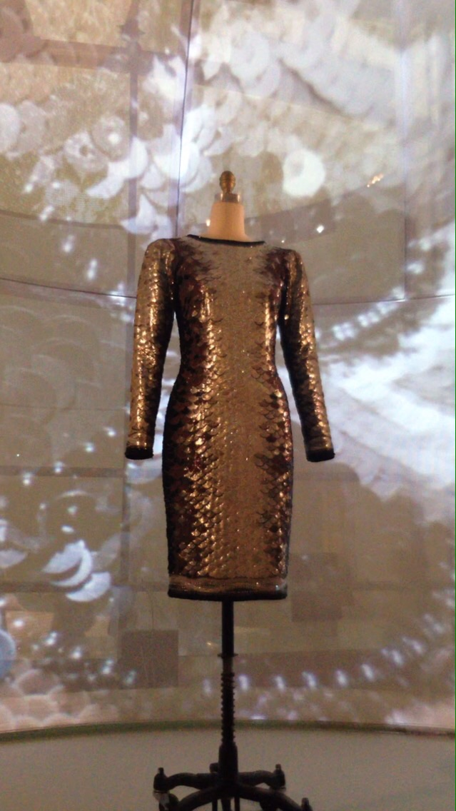 Yves Saint Laurent embroidered and beaded dress