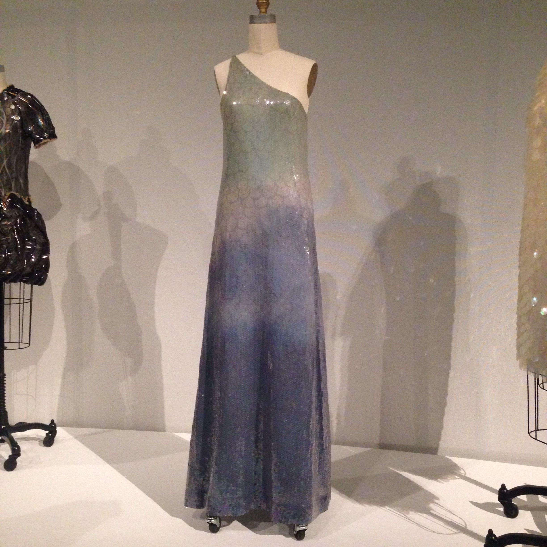 Halston Roy sequin gown.  Very mermaid-esque