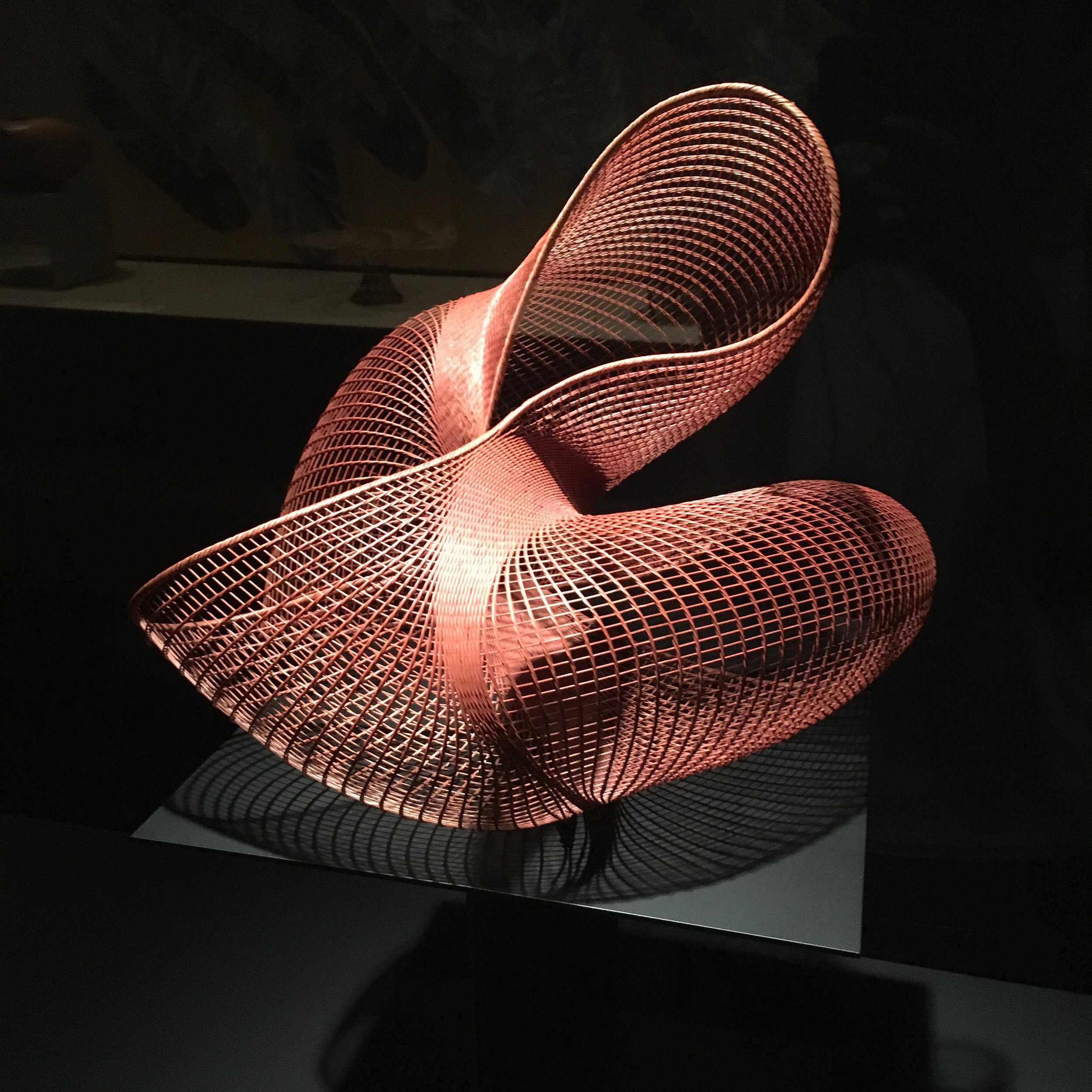 Hand woven bamboo basket