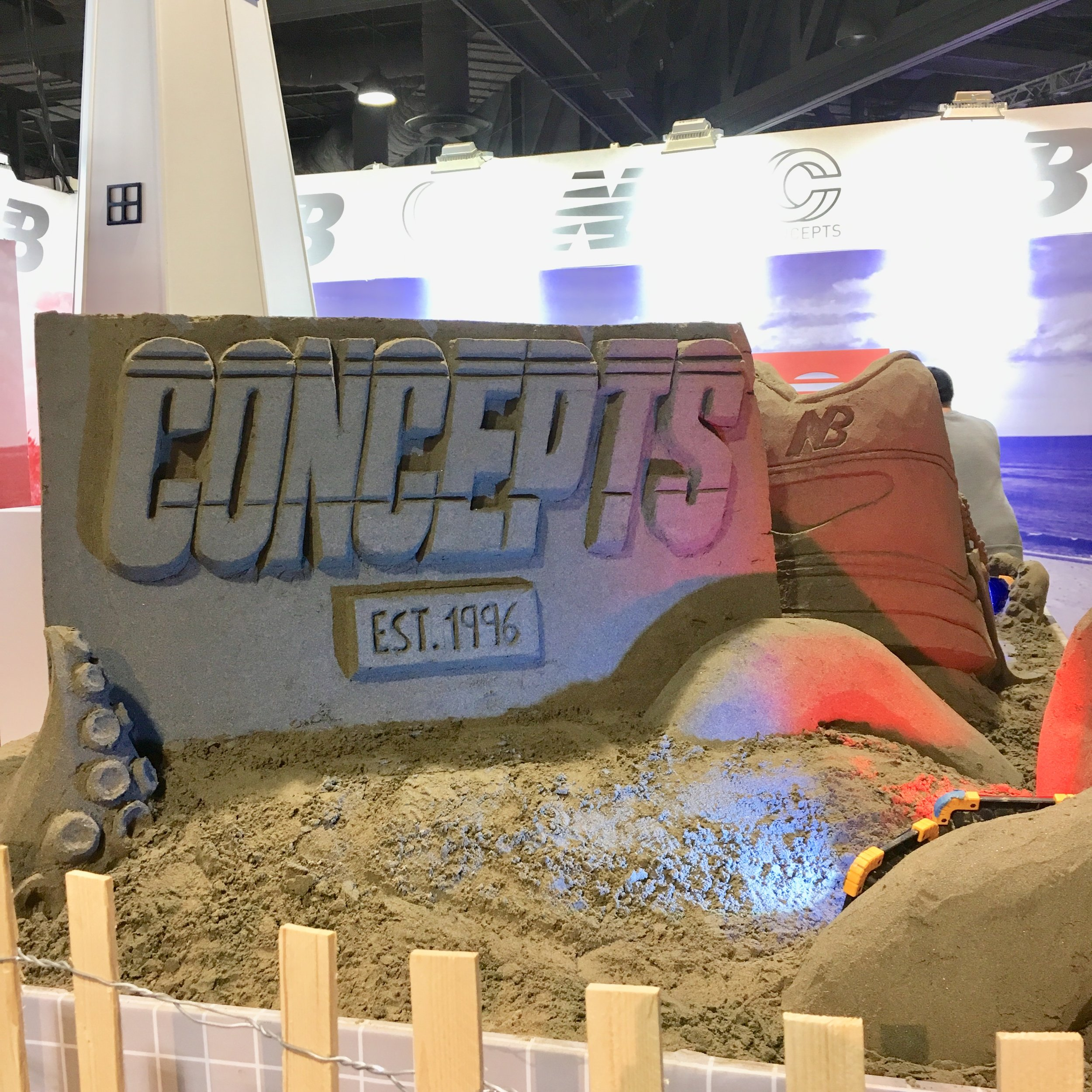 Concepts sandbox.  Their booth closed early because they sold out of product.