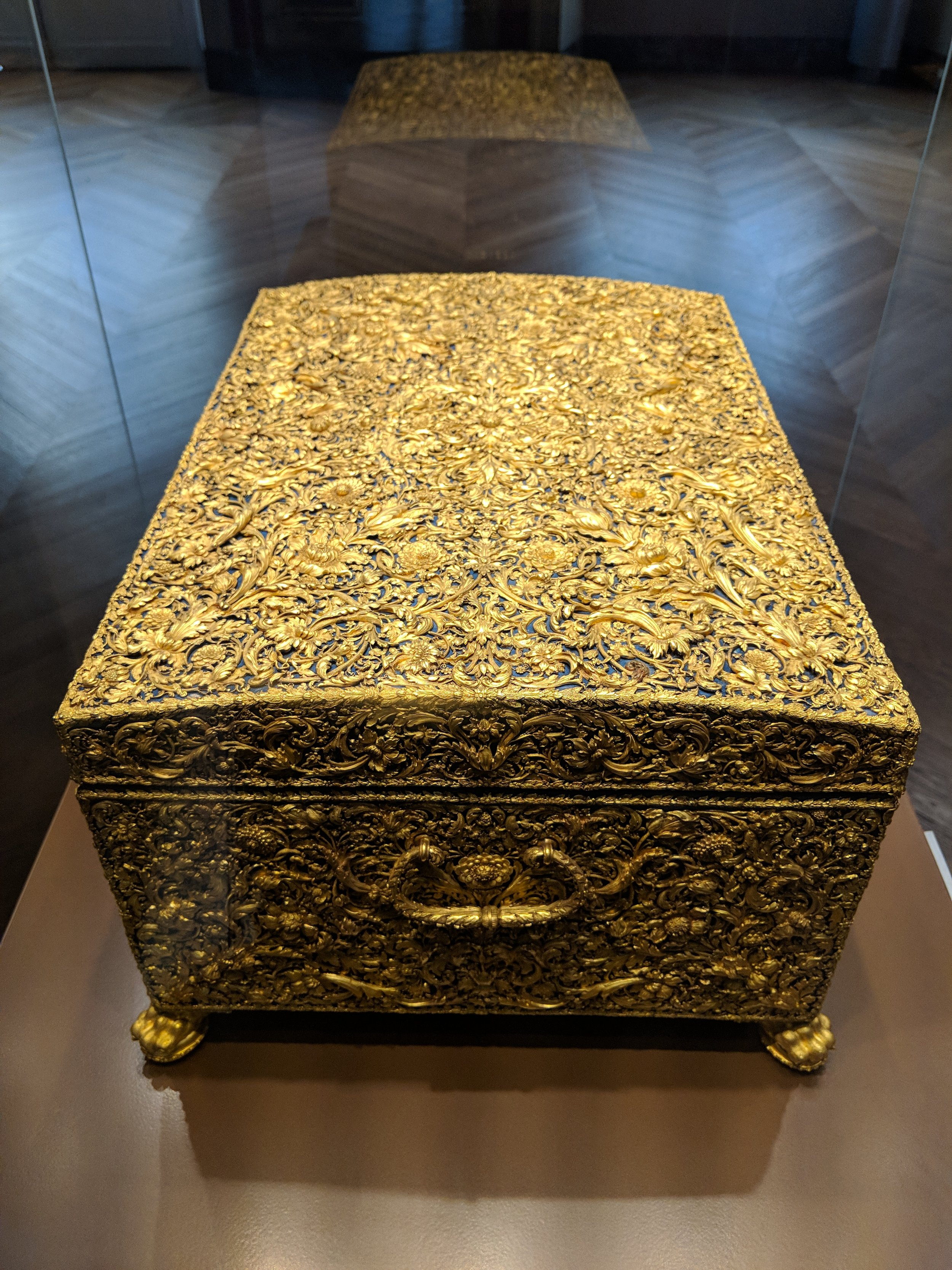 Then there was this golden treasure chest because someone wanted to make a really beautiful chest and someone could appreciate this way back then.
