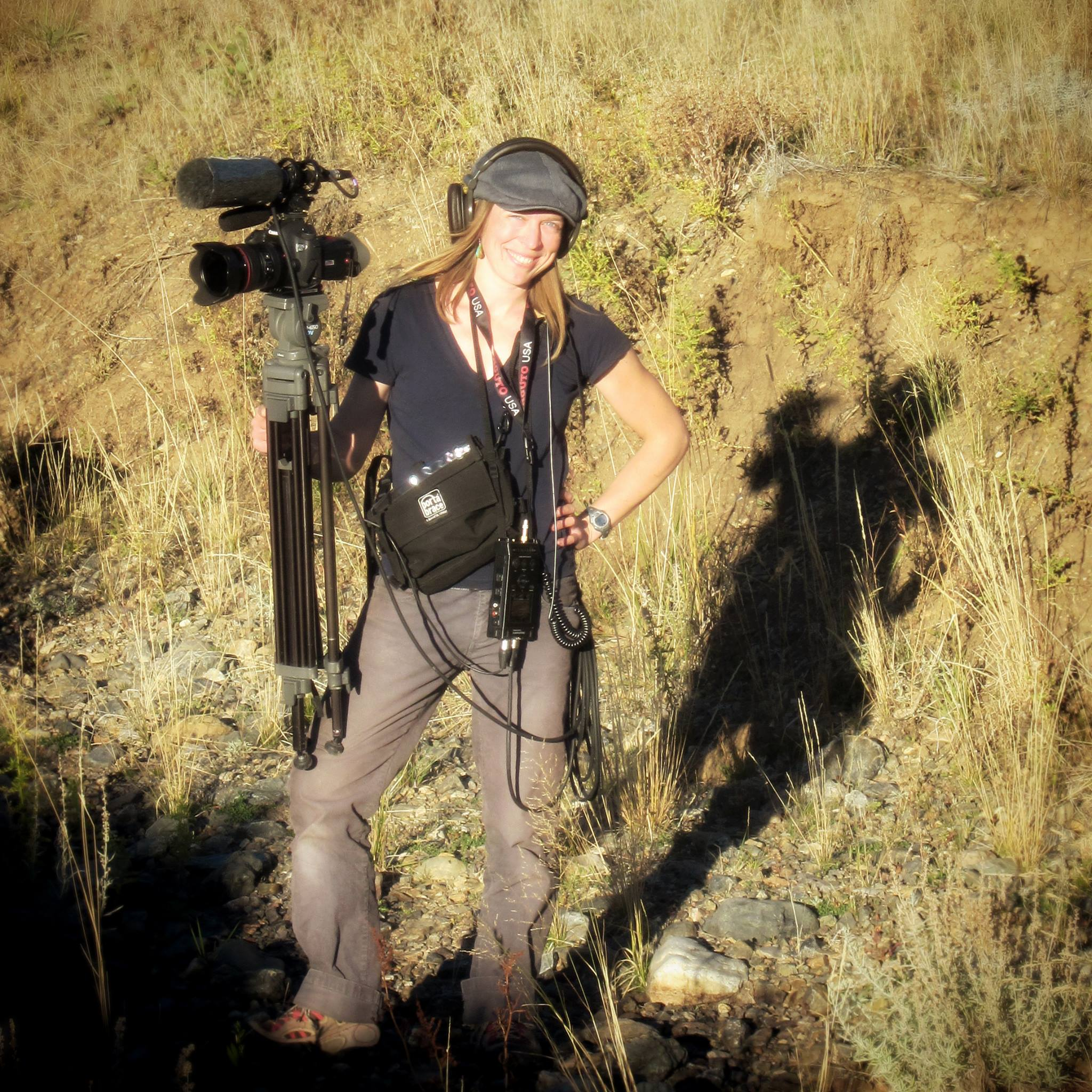 Sarah filming in OR.jpg