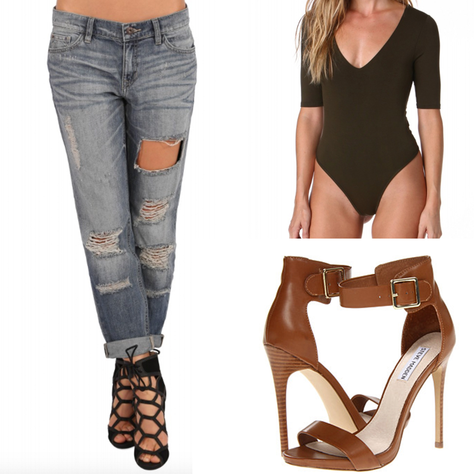 Denim:  Necessary Clothing  Body Suit:  Here  Shoes:  Steve Madden Marlene