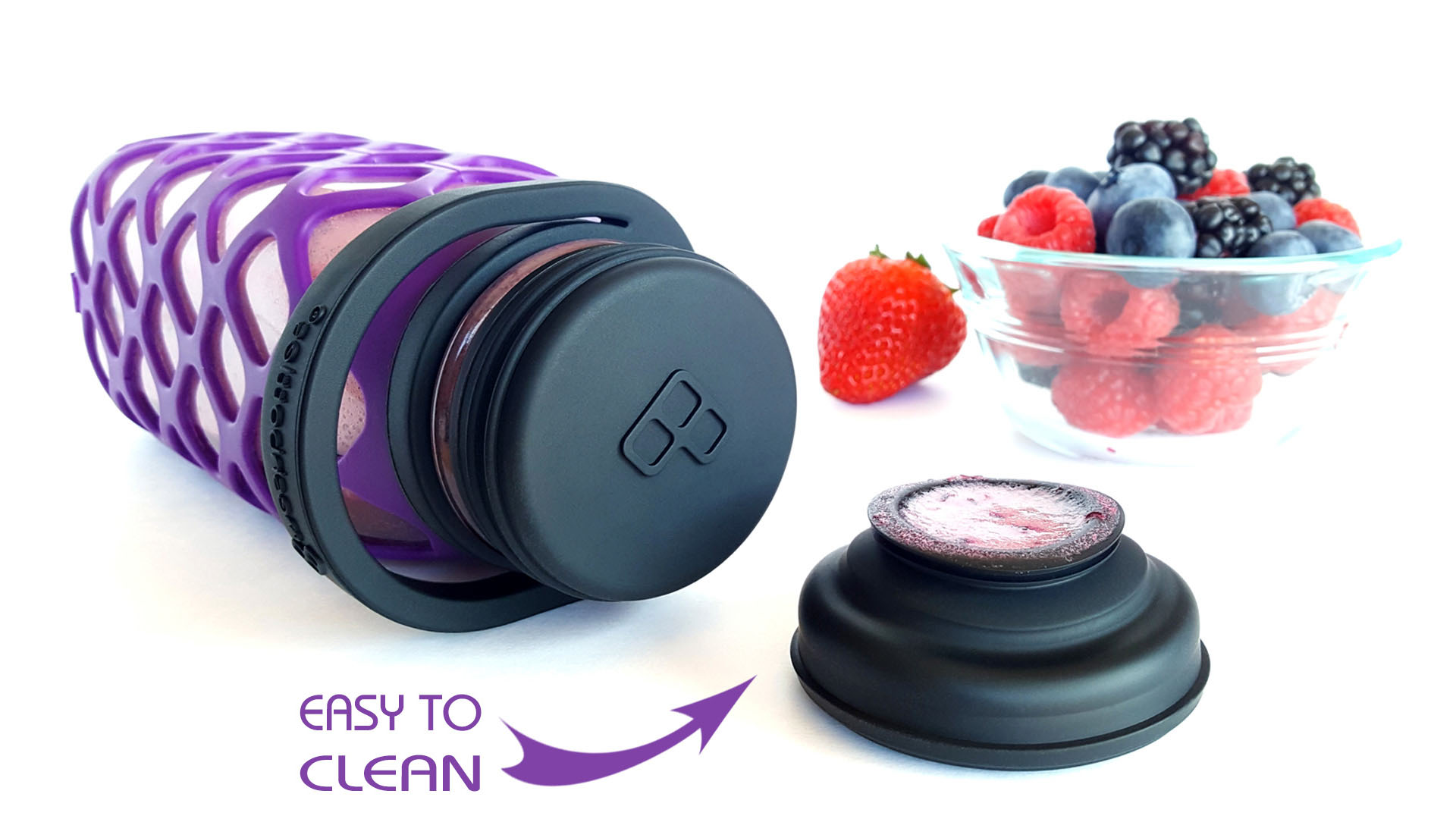 Meshbottles with Silicone Tops - Clean and Sanitary: A Top That Turns Inside-out