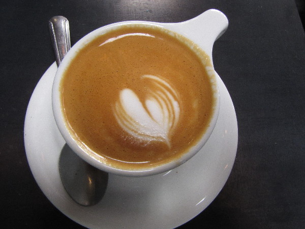 My first macchiato at Cartel Coffee Lab's downtown Tucson location