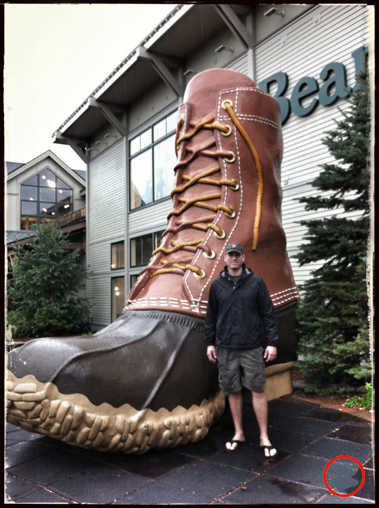 Scott excited to see the L.L. Bean Flagship Store in Maine
