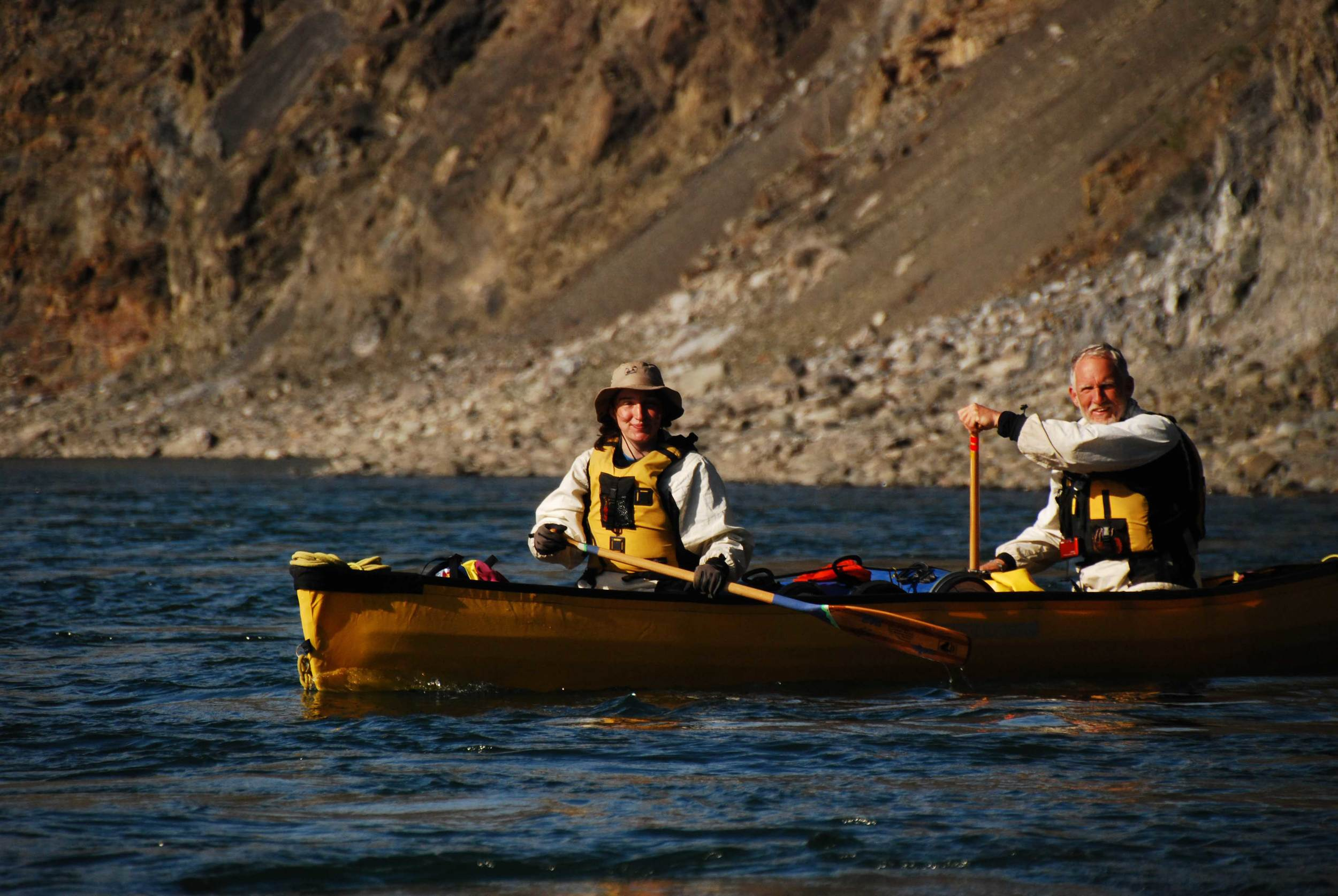 Rob and his daughter, Zoe, canoeing the Noatak | Photo courtesy of Rob Kesselring