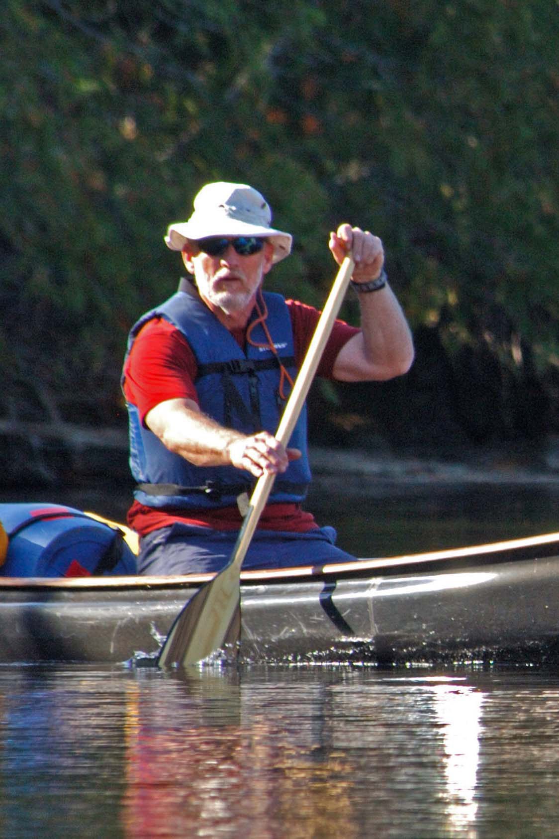 Rob canoeing the BWCA | Photo courtesy of Rob Kesselring