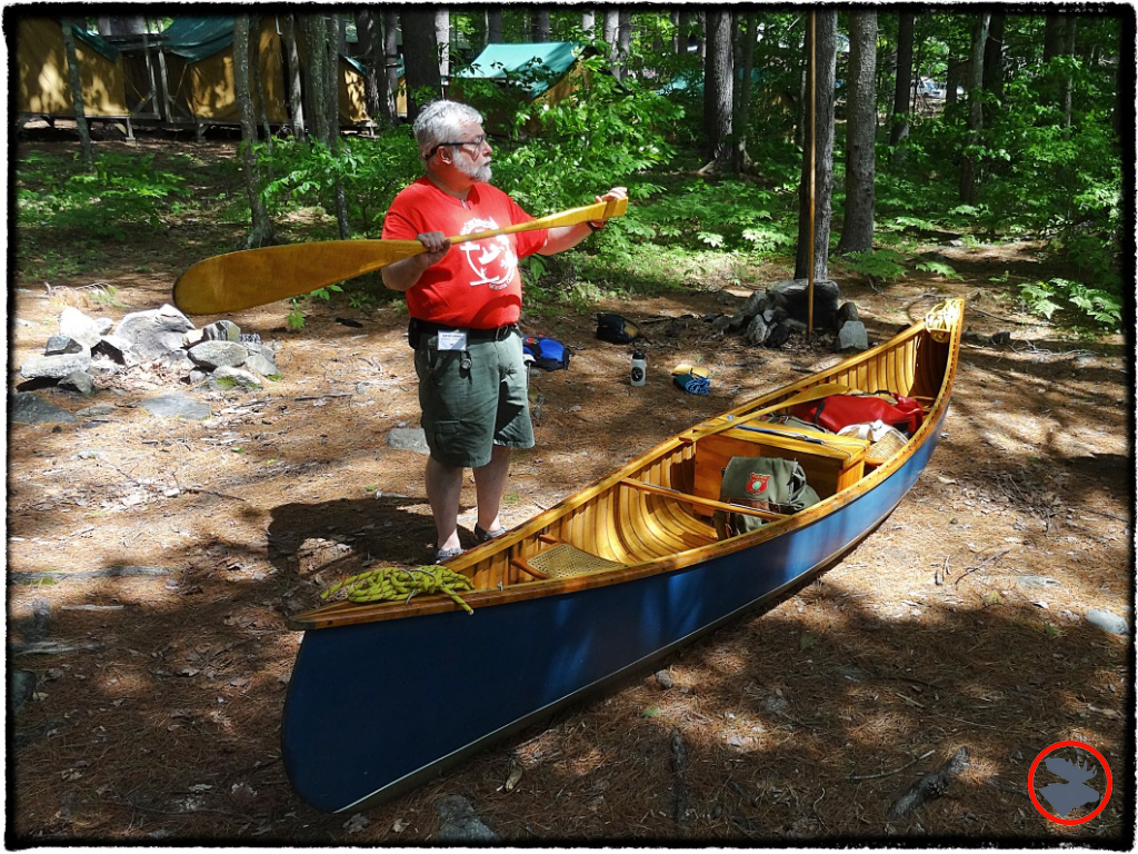 David Lewis with his Rollin Thurlow canoe and appropriate accouterment.