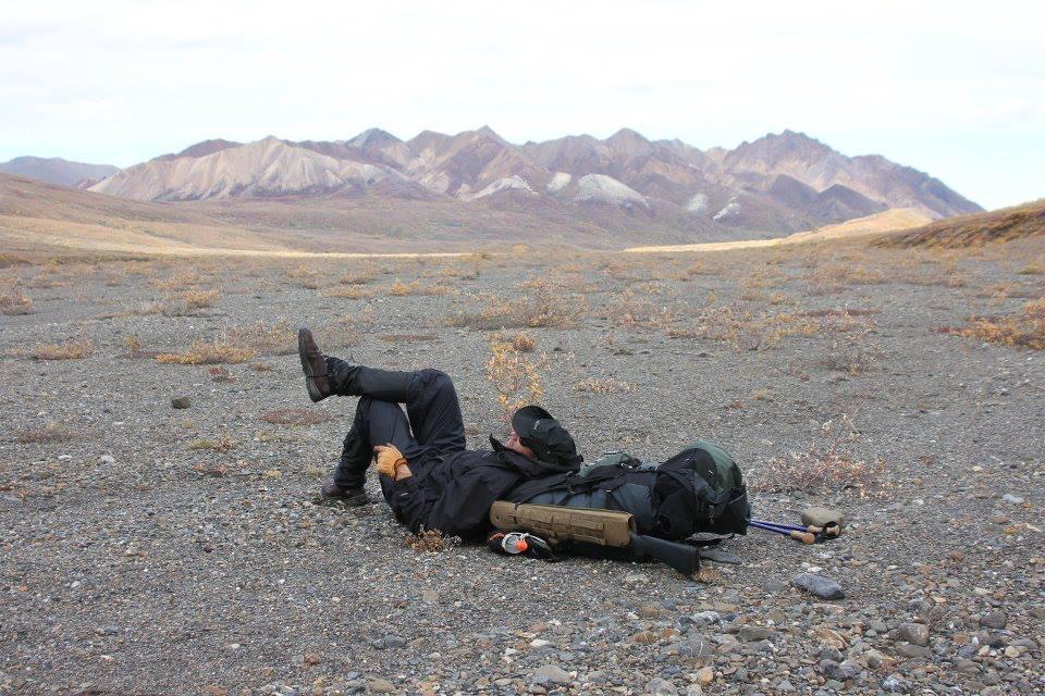 Taking a break. Surprisingly comfortable gravel bar.