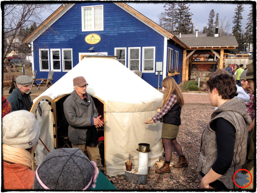 This Old Yurt. North House Folk School's Winterer's Gathering.