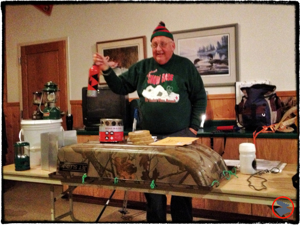 Fred Boulay presenting at BSA Winter Camping School