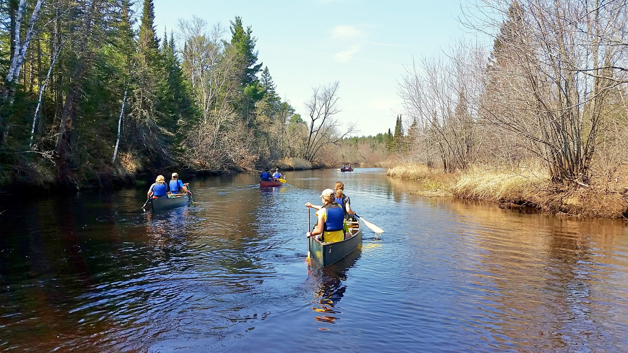 Making our way down the Cloquet River with the UMD RSOP group. (Photo courtesy of Jeff Lindstrom.)