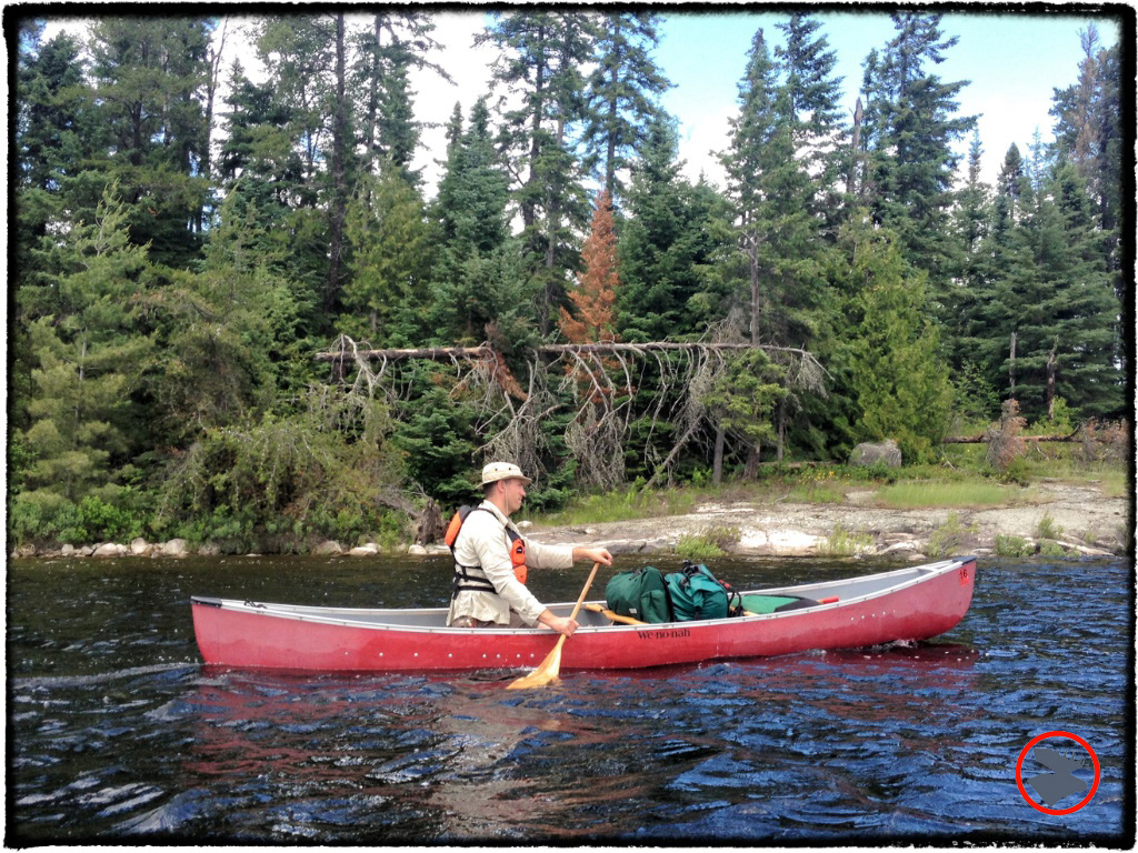 Paddling solo in the Quetico.