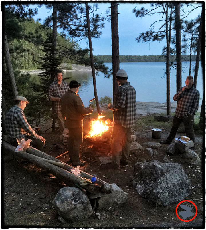 The crew in their  Eddie Bauer Expedition Flannel shirts .