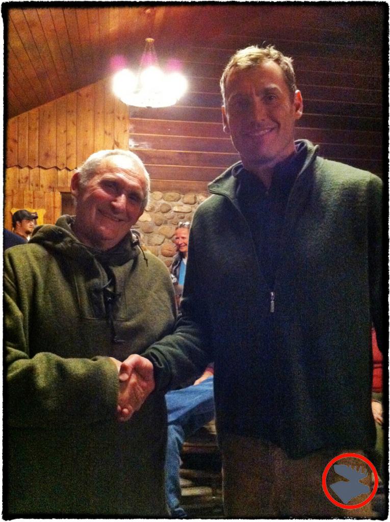Mors Kochanski and I at Winter Camping Symposium 2012.