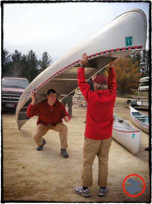 Cliff Jacobson teaching proper canoe handling technique during the BWCA skills prep workshop.