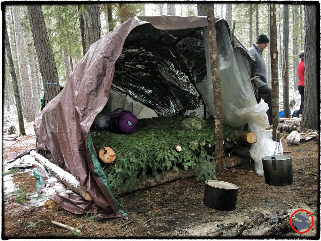 Super Shelter that I built in Superior National Forest.