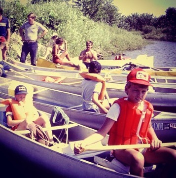 One of my first BSA canoe camping trips (circa 1983) on the lower Wisconsin River (I'm in the red pfd and cap). Man, that's a beauty. The river, too.  The WI River is so much fun, BMP is leading a weekend paddle on it August 18-20. If you're interested in joining the float, send us an email (link in bio)! And don't worry, I've updated our gear since this photo.  #tbt #bsa #canoe #camping #paddle #wisconsin #wisconsinriver #motleycrew #gottalovethe80s #getoutside #summerwontlastforever
