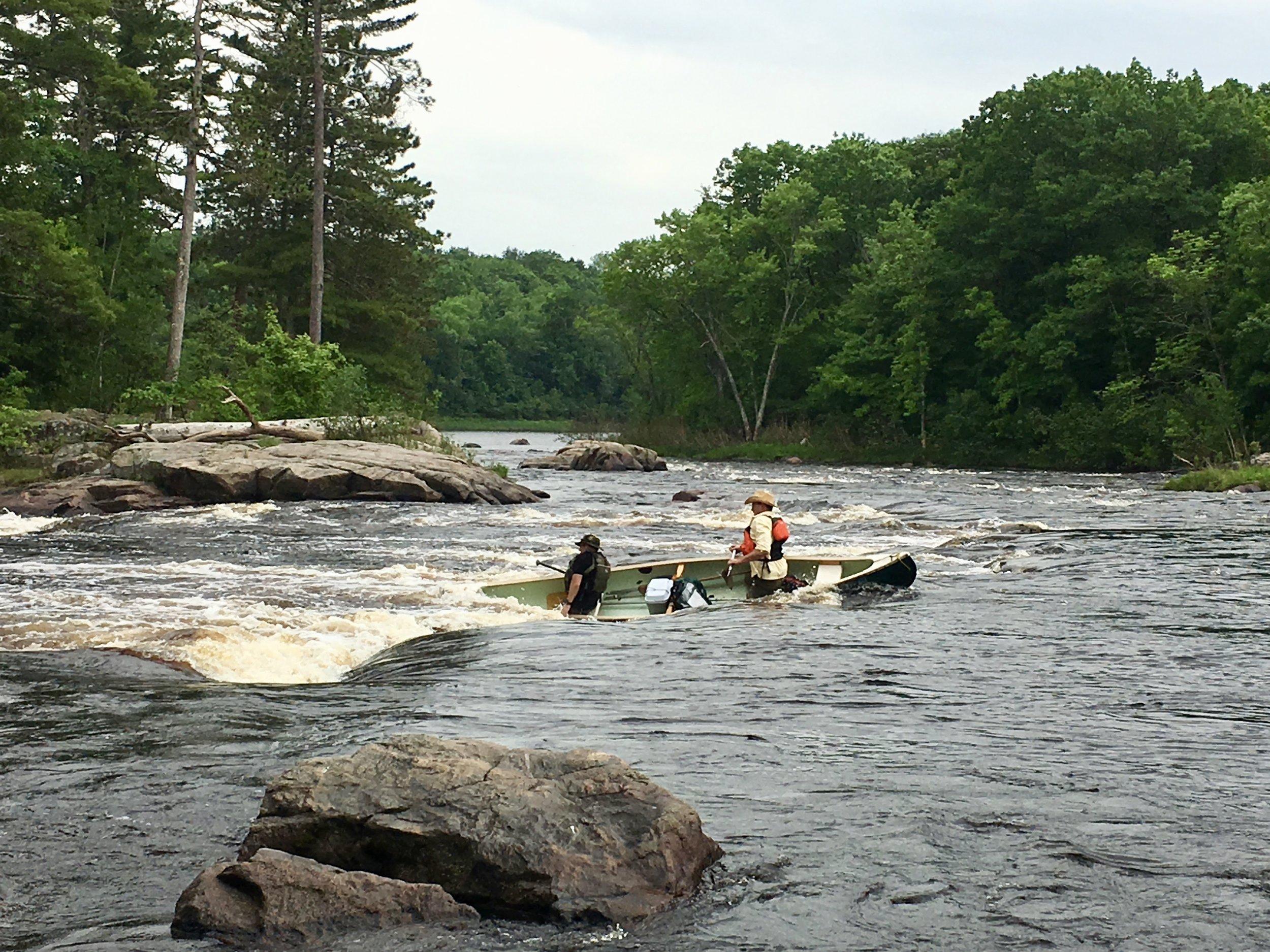 Paddling the Flambeau River (WI)