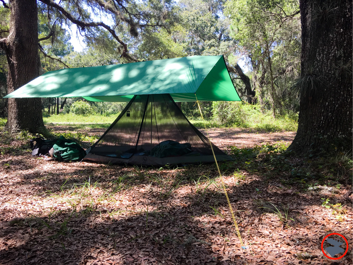 My shelter during my stay in Florida's Ocala National Forest.