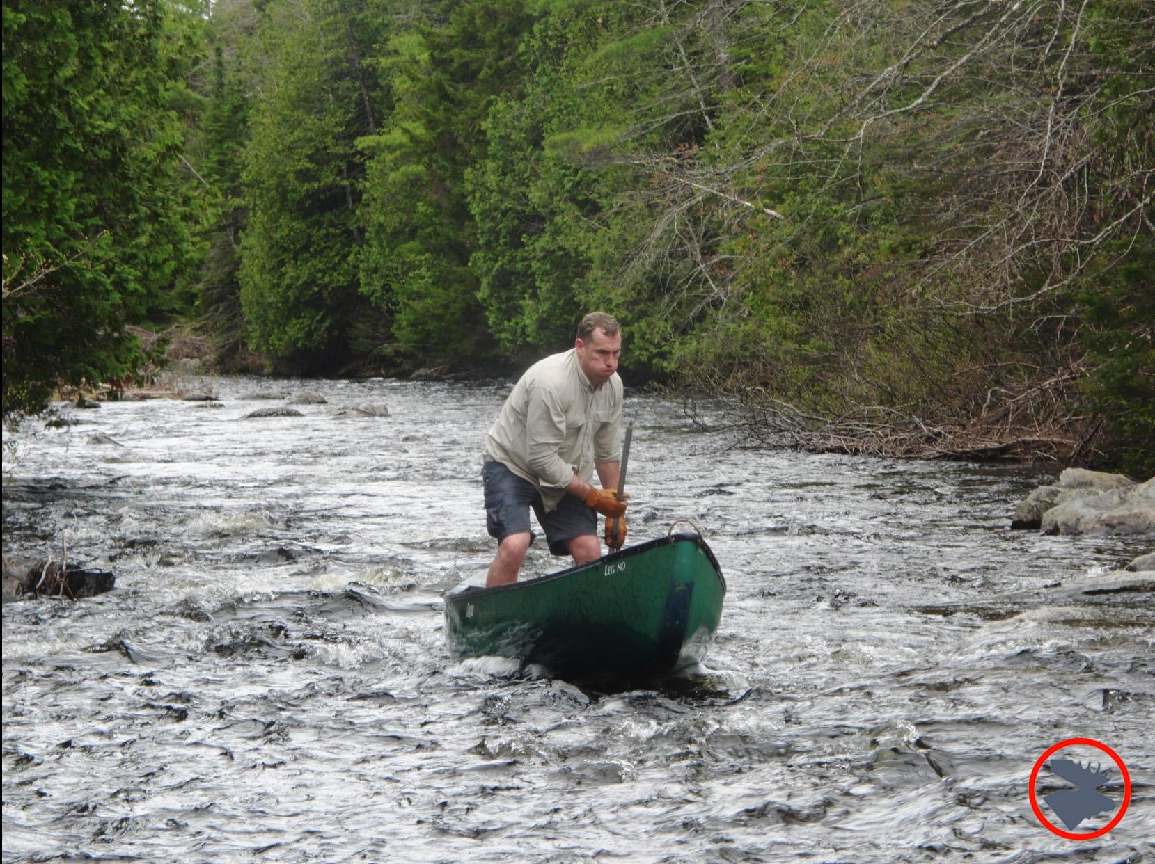 Canoe Poling Upriver | Bull Moose Patrol