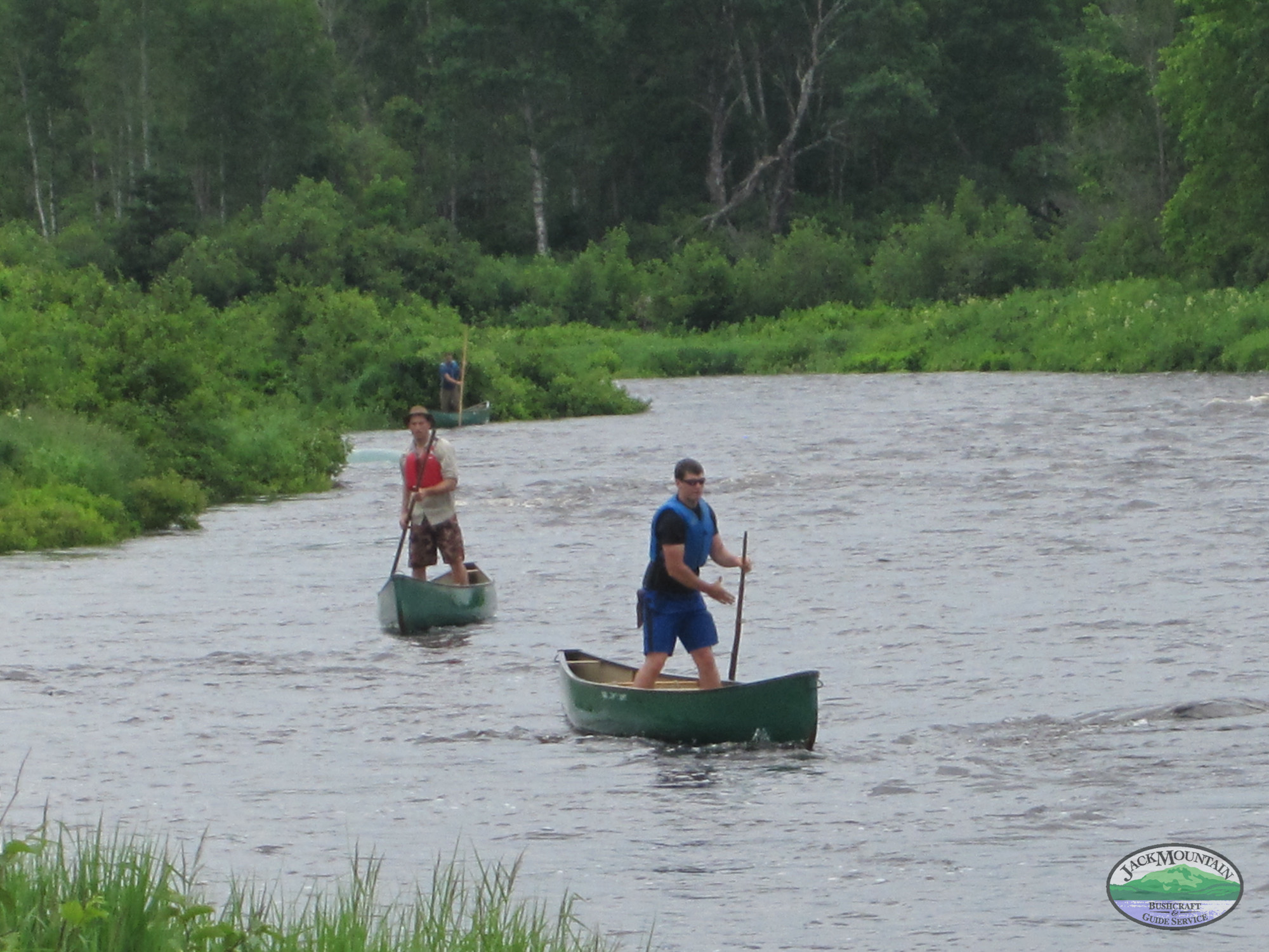 Sam and I canoe poling during our time at  Jack Mountain Bushcraft River Guide School .  Photo courtesy of    Tim Smith   .
