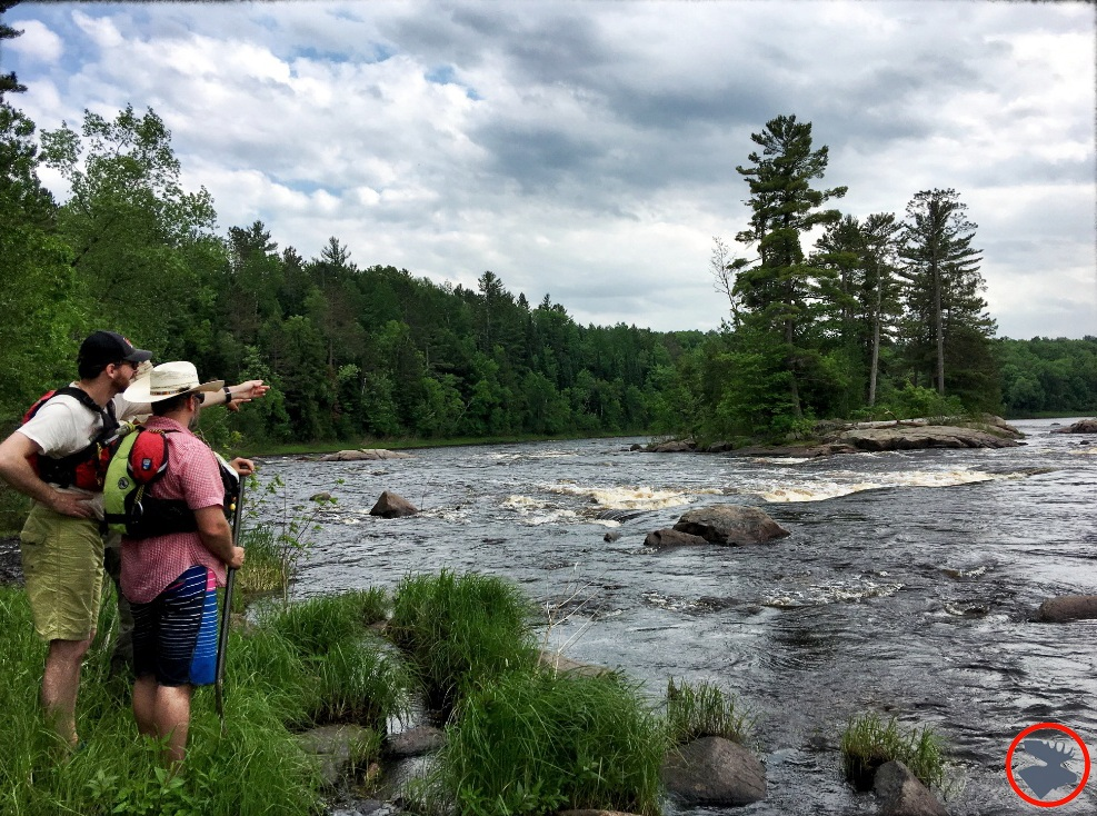 Scouting the rapids on the Flambeau River.