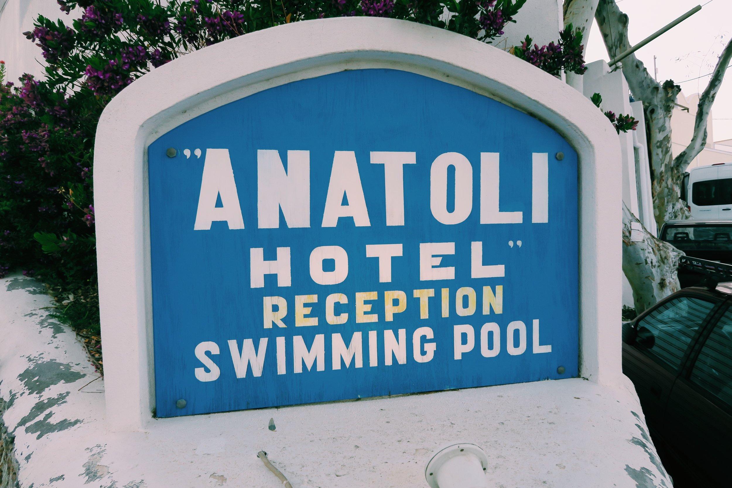 Anatoli Hotel in Fira, Santorini