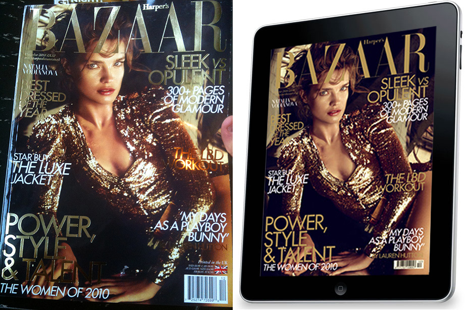 Magazine vs. iPad