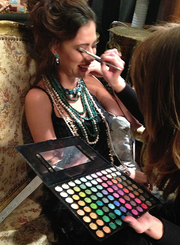 MUA Hannah Morrow with her positive personality is always a model-favorite.