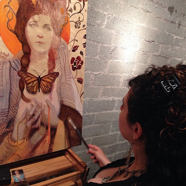 Live painting at Illuminate album release party!