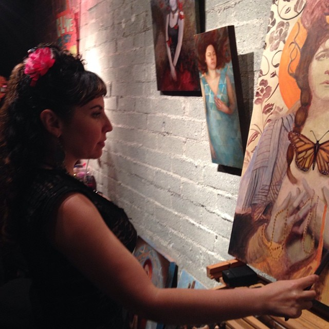Live painting at Illuminate album release party