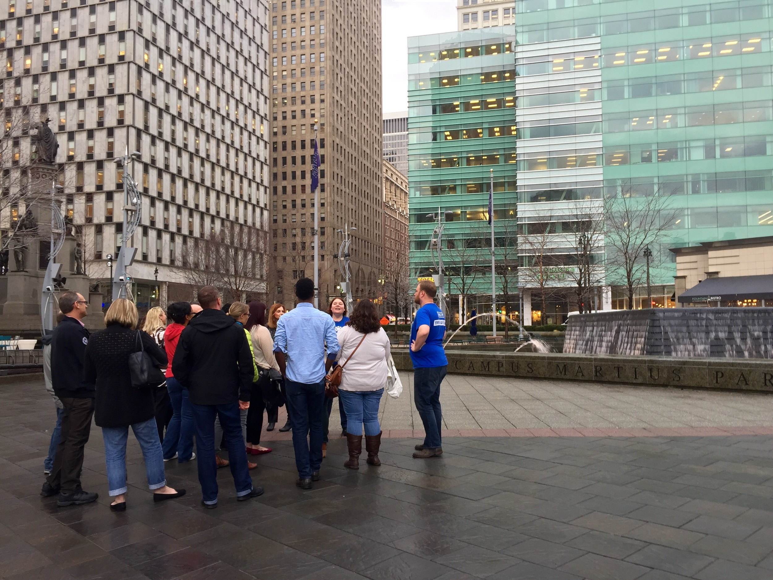 Checking out  Campus  Martius  Park  between stops.