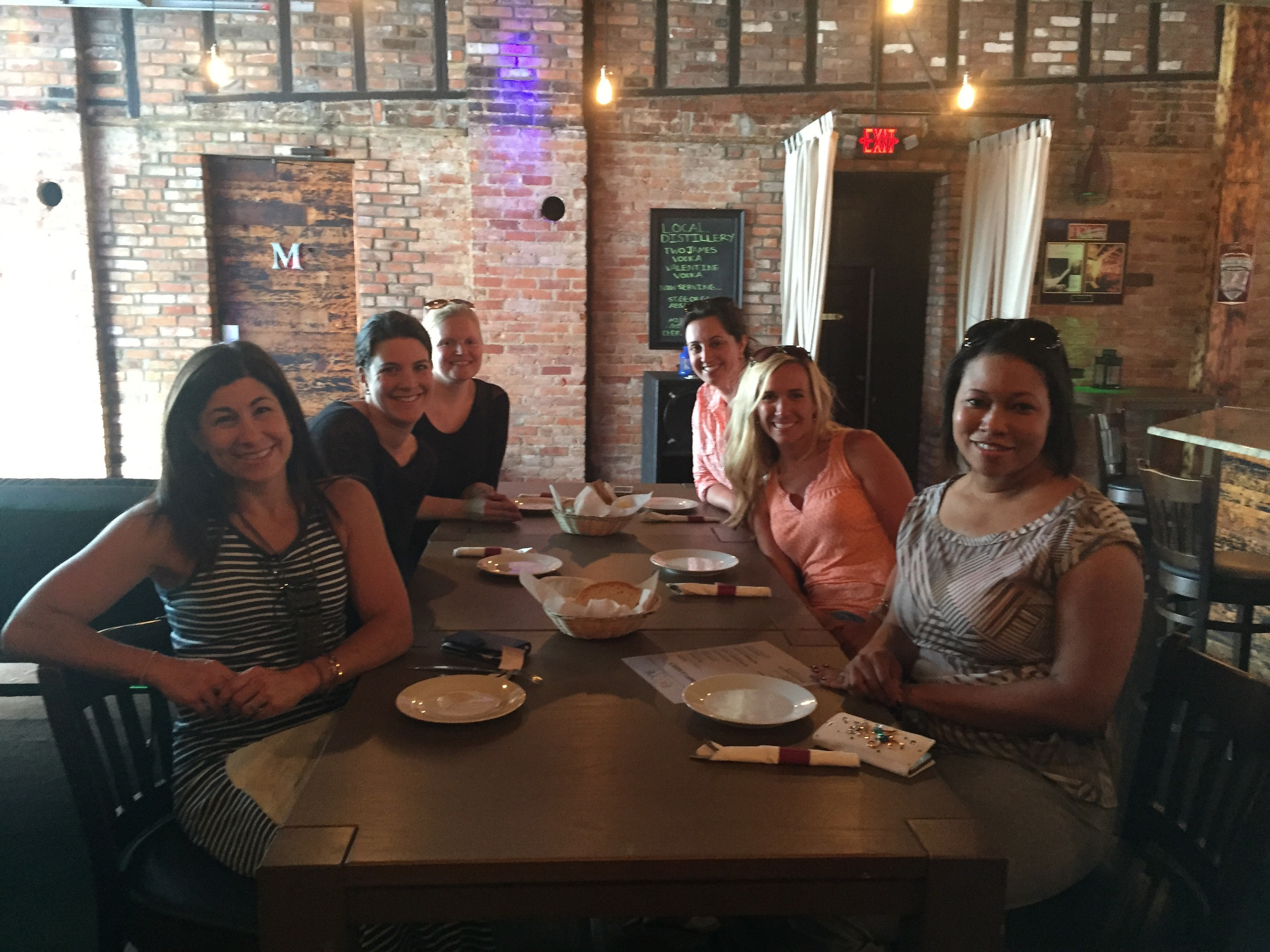 The ladies of UHY Advisors, Inc. were given the entire upper floor of  Exodus  for the their strolling supper.