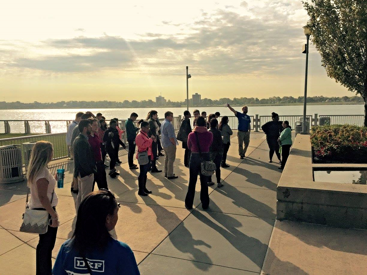 You'll get a tour of the sights and information on the Detroit community along the way