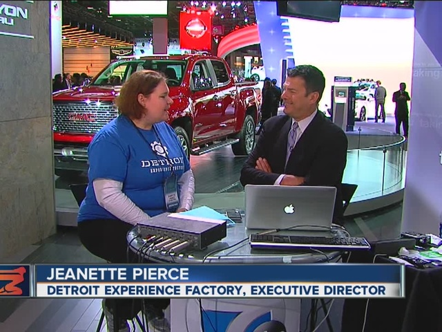 (WXYZ) - Jeanette Pierce from the Detroit Experience Factory joined Stephen Clark on WXYZ's Detroit Auto Show Webcast to discuss showing off the city of Detroit to the thousands of visitors for the North American International Auto Show.  She talked about how the Detroit Experience Factory was hired by the auto show to set up an information booth inside the press center to help show off the city to visitors.  On their website,  weknowdetroit.org  , you can sign up to see the public tours of Detroit this winter, or even customize your own Detroit tour with the help of the Detroit Experience Factory.  For more information, watch Jeanette's interview in the video player above and visit  weknowdetroit.org  .     http://www.fox47news.com/news/detroit-experience-factory-showing-off-the-city-to-detroit-auto-show-visitors