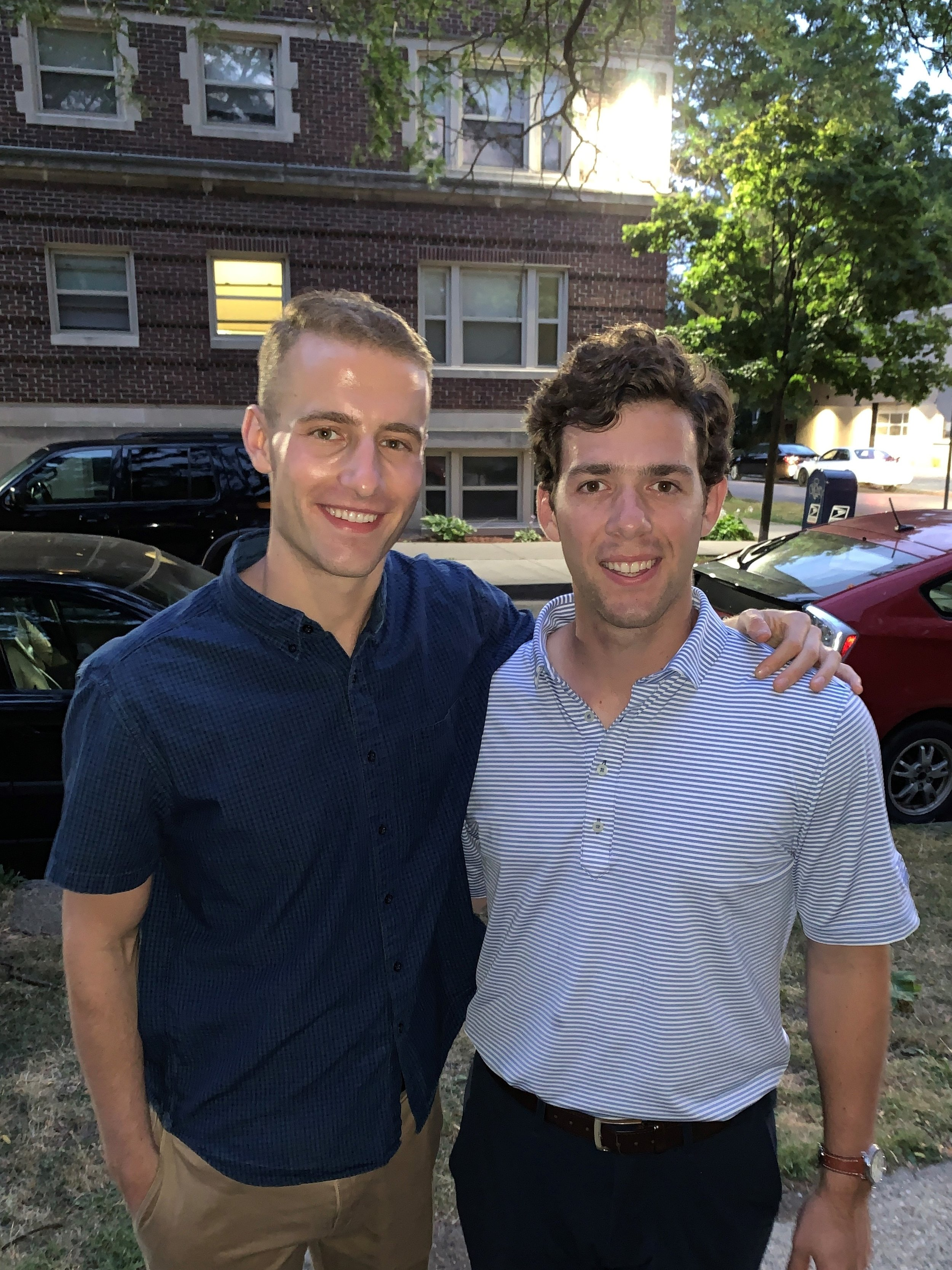 Charles Levin and Joey Abraham in the West Village neighborhood.